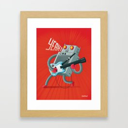 robot guitar Framed Art Print