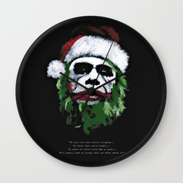 Be good. I will visit you on Christmas Eve ! Wall Clock