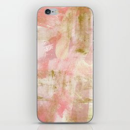 Rustic Gold and Pink Abstract iPhone Skin