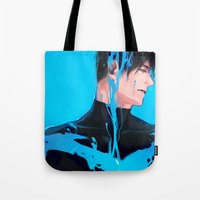 nightwing Tote Bags featuring Color serial 01 by Hai-ning