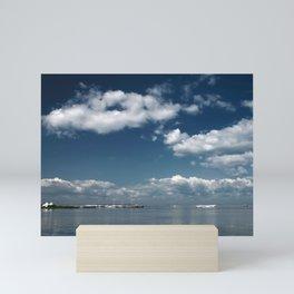 Beautiful blue sky over the Gulf of Finland Mini Art Print