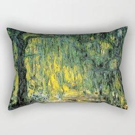 Weeping Willow by Claude Monet Rectangular Pillow