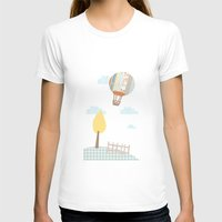 baloon T-shirts featuring baloon collage by flying bathtub