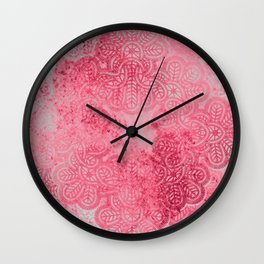 coral lace weave Wall Clock