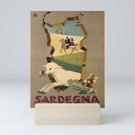 retro plakat ENIT Sardegna voyage poster Mini Art Print