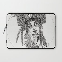 JennyMannoArt Graphite Drawing/Aiyana Laptop Sleeve