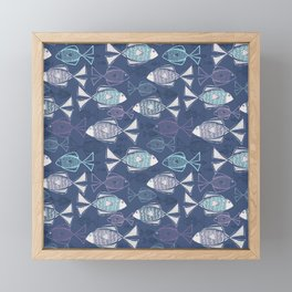 Here, Fishy Fishy Framed Mini Art Print