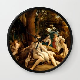"Antonio Allegri da Correggio ""Leda and the Swan"" Wall Clock"