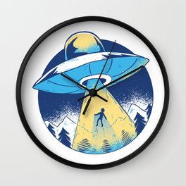 Alien abduction Wall Clock