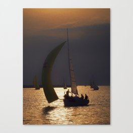 The day before the Barcolana race Canvas Print