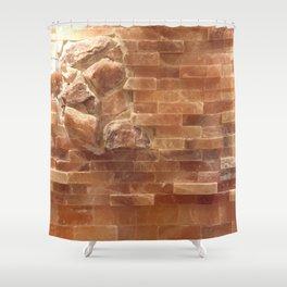 Salt wall Shower Curtain