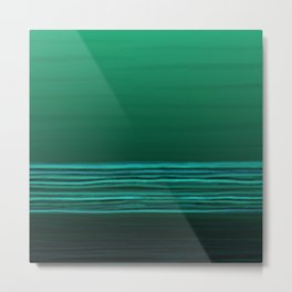 Horizon (green water) Metal Print