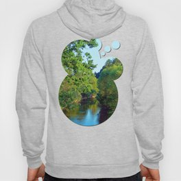 A summer evening along the river III | waterscape photography Hoody