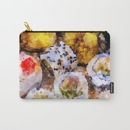 Sushi board watercolor Carry-All Pouch
