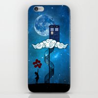 banksy iPhone & iPod Skins featuring Tardis Stair banksy ballons Girl by neutrone