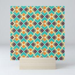 Mid Century Modern  Retro Vintage Multi Colour Scandinavian Geometric Mini Art Print
