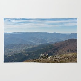 French mountain view Rug
