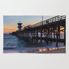 Seal Beach Pier Rug