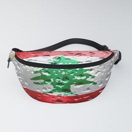 Flag of Lebanon - Raindrops Fanny Pack
