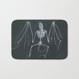 Bat Skeleton Bath Mat