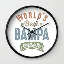 World's Best Bampa Wall Clock