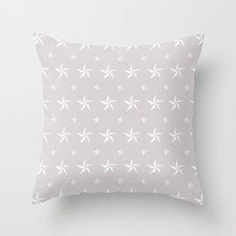 Stella Polaris Light Grey Design Throw Pillow