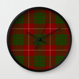 Cameron Red & Green Tartan Pattern #2 Wall Clock