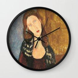 Portrait by Modigliani Wall Clock