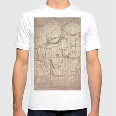 Printer's Press White MEDIUM Mens Fitted Tee