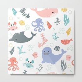 happy sea child Metal Print