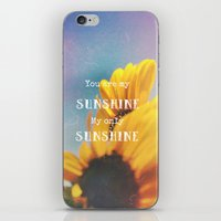 sunshine iPhone & iPod Skins featuring Sunshine by Olivia Joy StClaire