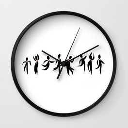 Dancers with Heart Wall Clock