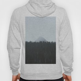 Minimalist Landscape Photo Tall Trees Mountain In The Background Hoody