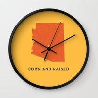 arizona Wall Clocks featuring Arizona by Hunter Ellenbarger