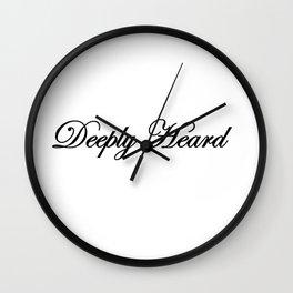 Deeply Heard Wall Clock