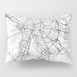Dijon Map White Pillow Sham