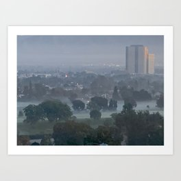 A Foggy Morning in Burbank CA Art Print