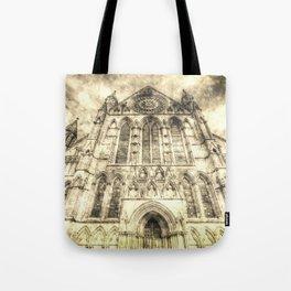 York Minster Cathedral Vintage Tote Bag