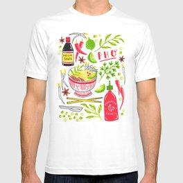 Vietnamese Pho Soup Sriracha T-shirt