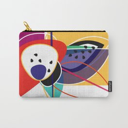 Abstract composition of superimposed geometric shapes, exotic fruits, bright colors Carry-All Pouch