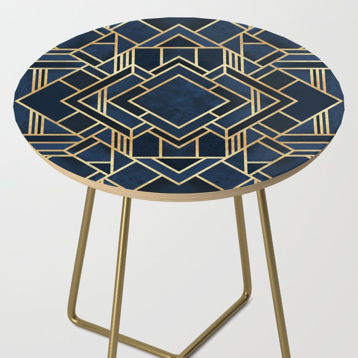 Art Deco Fancy Blue Side Table
