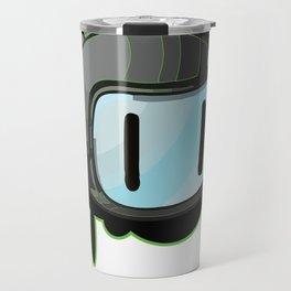 The Green Bomber  Travel Mug