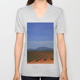 Lavender field Unisex V-Neck