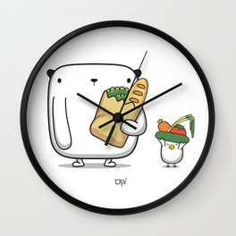 OPi Buy Vegetables Wall Clock