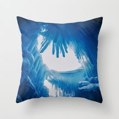 The Ice Castles Throw Pillow
