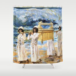 12,000pixel-500dpi - James Tissot - The Ark Passes Over the Jordan - Digital Remastered Edition Shower Curtain