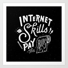 Pay the Bills Art Print