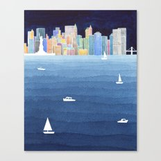 New York City NYC skyline panorama Manhattan Canvas Print