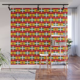 mix of flag: spain and euskal herria Wall Mural
