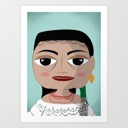 Otavalo women Art Print